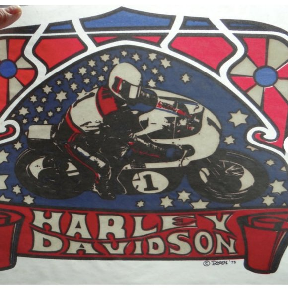 Vintage Harley Davidson Iron-on Transfer
